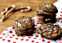 Choc cookies with candy cane recipe