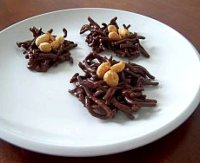 Chow mein noodles covered with chocolate recipe