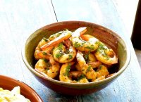 Cooked prawns recipe garlic green