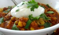 Cooked turkey chili with pumpkin recipe