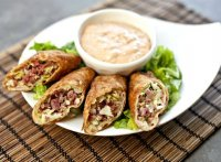 Corn beef and cheese egg rolls recipe
