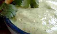 Creamy cilantro garlic sauce recipe