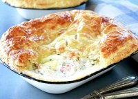 Creamy fish pie recipe puff pastry
