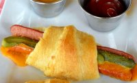 Crescent roll hot dogs with cheese recipe