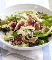 Curried chicken salad recipe low fat