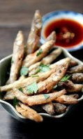 Deep fried dilis smelt recipe