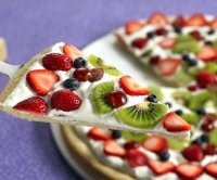 Dessert pizza recipe sugar cookie with yogurt