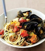 Easy mussels and pasta recipe