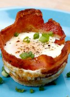 Egg and bacon cups tasty recipe