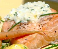 Egg sauce with salmon recipe