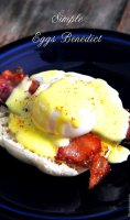 Eggs benedict recipe with bread