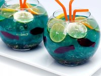 Fish bowl drink recipe with nerds on site
