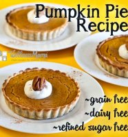 Fresh pumpkin pie recipe dairy free