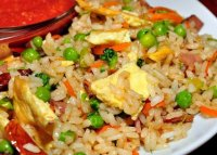Fried rice recipe with egg and pork