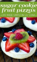 Fruit pizza recipe with sugar cookie mix