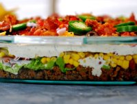 Ghetto layered taco salad recipe