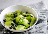 Ginger bok choy stir fry recipe