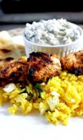 Greek style chicken kabobs recipe