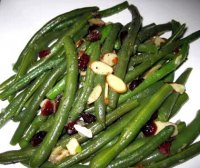Green beans with almonds and cranberries recipe