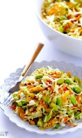 Green lentil recipe salad with ramen
