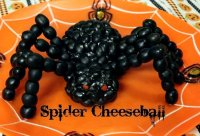 Halloween spider cheese ball recipe olives
