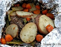 Hobo dinner on the grill recipe