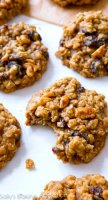 Homemade chewy oatmeal raisin cookie recipe