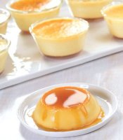Homemade flan recipe with cream cheese