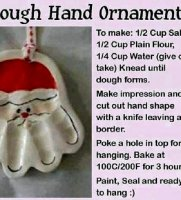 Homemade recipe for christmas ornaments