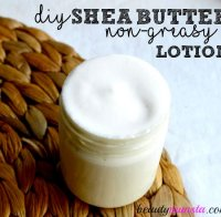 Homemade shea butter coconut oil lotion recipe
