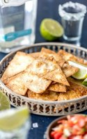 Homemade tortilla chips with lime recipe