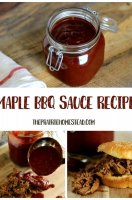 Honey maple bbq sauce recipe