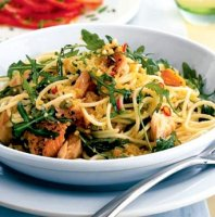 Hot smoked salmon pasta recipe