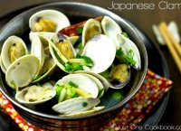 Japanese sake clam soup recipe