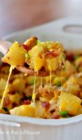 Loaded potato casserole with diced potatoes recipe