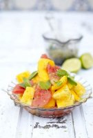 Mango pineapple salad with mint recipe drink