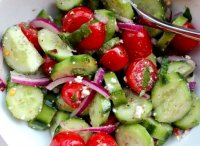 Marinated cucumber and onion salad recipe