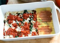 Meat cheese and spinach lasagna recipe