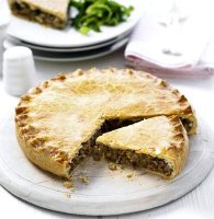 Mince and potato pie with short crust pastry recipe
