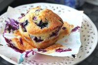 Moist blueberry muffin recipe with yogurt