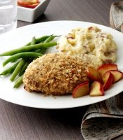 Mustard breaded boneless pork chop recipe