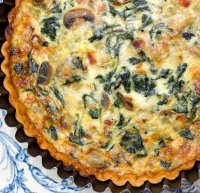 No cheese quiche lorraine recipe with milk