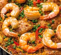 Paella chicken sausage shrimp recipe