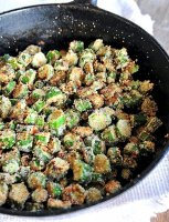 Pan fried okra cornmeal recipe