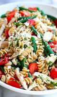 Pasta salad with green beans and feta recipe