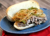 Philly cheese steak peppers onions recipe