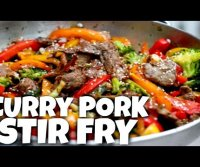 Pork curry stir fry recipe