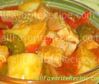 Pork with tomato sauce pinoy recipe