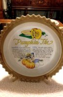 Pumpkin pie plate with recipe