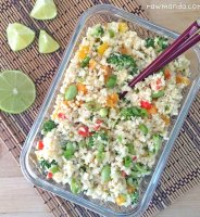 Raw fried rice cauliflower recipe